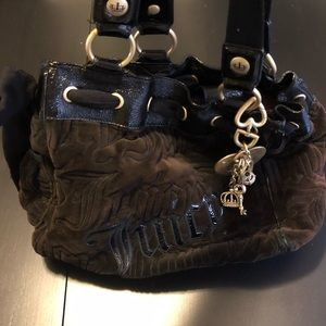 Juicy Couture Velour Large hand bag with charm